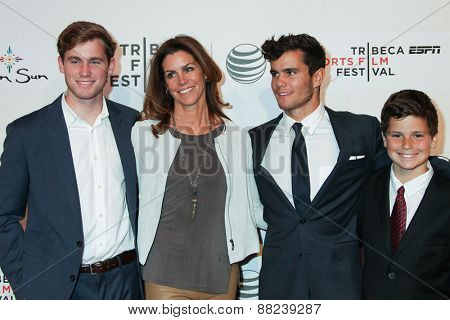 NEW YORK, NY - APRIL 16: Cristan Reilly with guests attends  the premiere of 'Play It Forward' during the 2015 Tribeca Film Festival at BMCC Tribeca PAC on April 16, 2015 in New York City.
