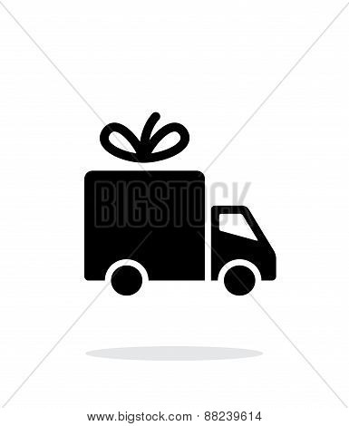 Delivery icon on white background.