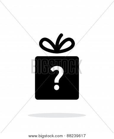 Secret gift icon on white background.