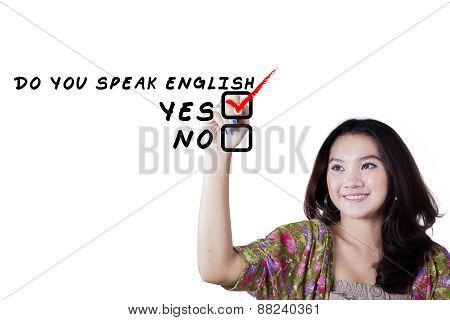Female Teenager Learn English