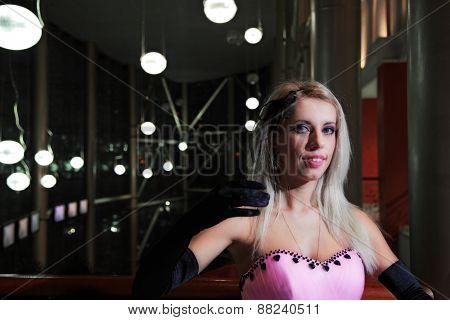 portrait of attractive girl. indoor shot