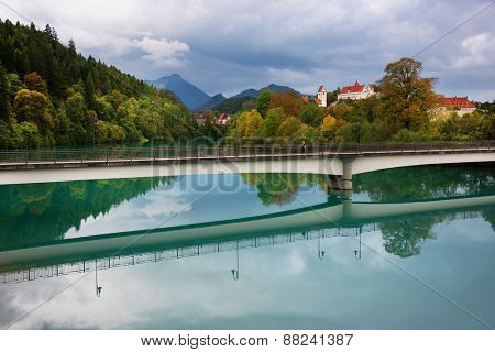 Lech River in Fussen, Germany, Europe