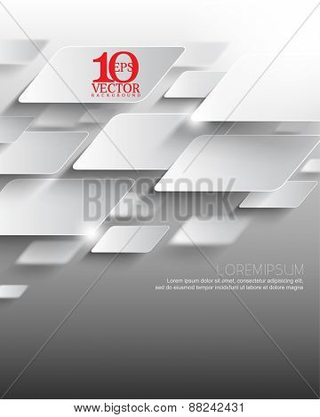 eps10 vector elegant metallic overlapping geometric elements corporate business background with blurry elements at the back