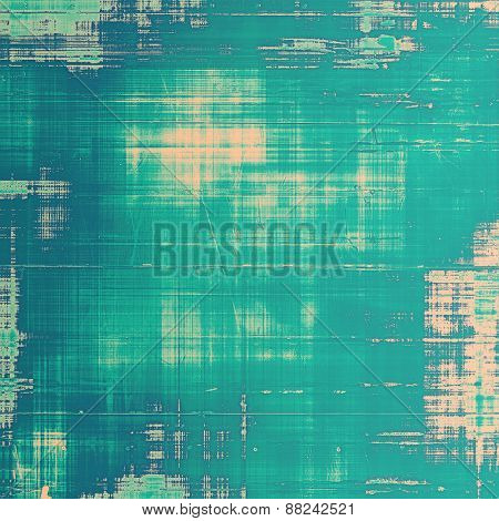 Aged grunge texture. With different color patterns: yellow (beige); cyan; blue
