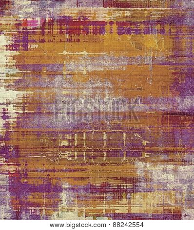 Old antique texture (for background). With different color patterns: yellow (beige); brown; purple (violet)