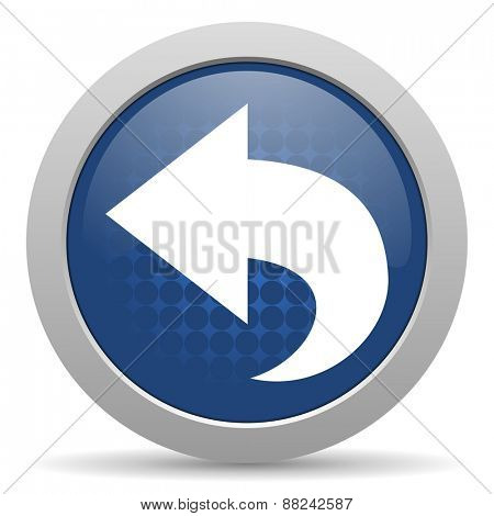 back blue glossy web icon