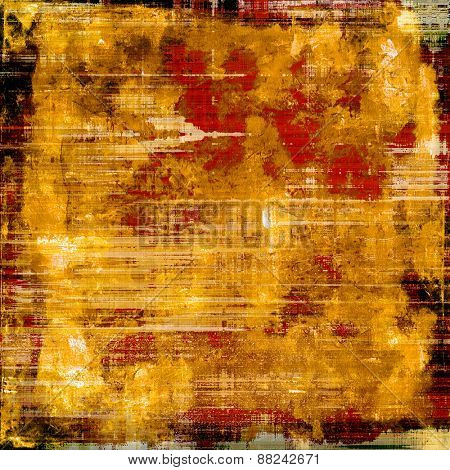 Antique vintage textured background. With different color patterns: yellow (beige); brown; red (orange)