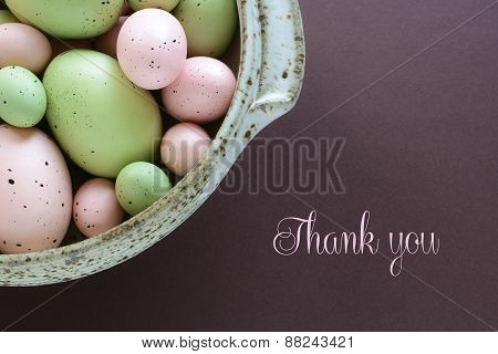 Pastel Easter Eggs With Thank You Text
