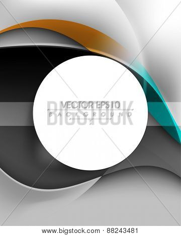 blank round white frame business elegant background eps10 vector