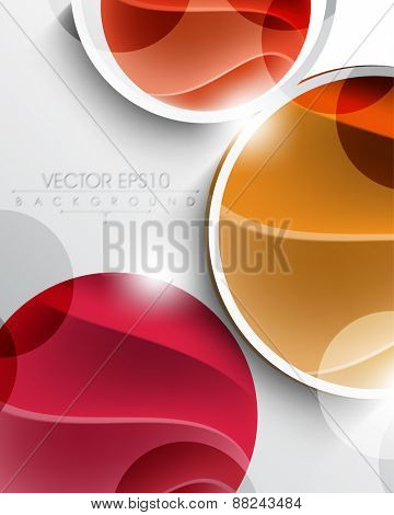 multicolor geometric circle with elegant wave inside eps10 vector background