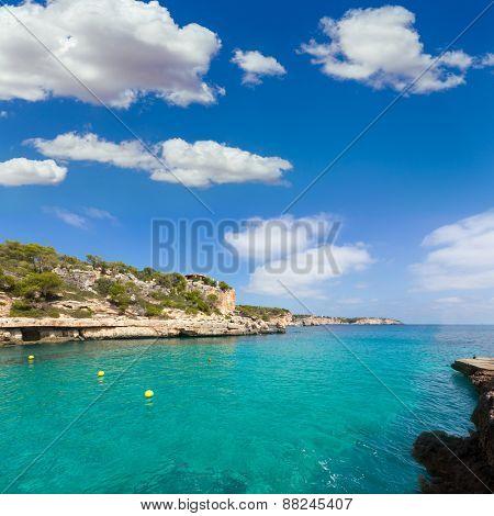 Majorca Cala Llombards Santanyi beach in Mallorca Balearic Island of Spain