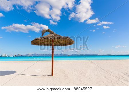 Mallorca Platja de Alcudia beach in Majorca Balearic islands