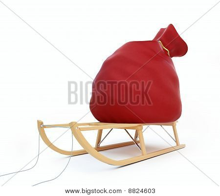 sleigh red bag