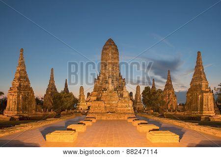 Wat Chaiwatthanaram In Ayutthaya ,thailand