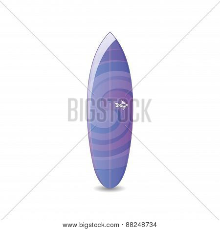 Isolated surfboard on a white background. Vector illustration