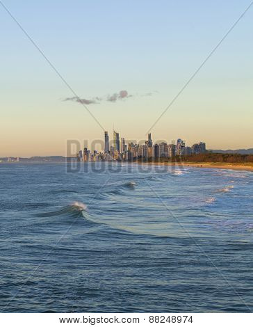 Golden Sunrise Over Gold Coast