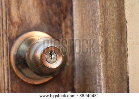 A Door Of An Old Door Knob