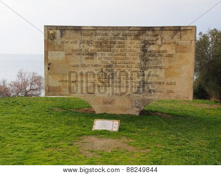 Kabatepe Ari Burnu Beach Memorial, Gallipoli