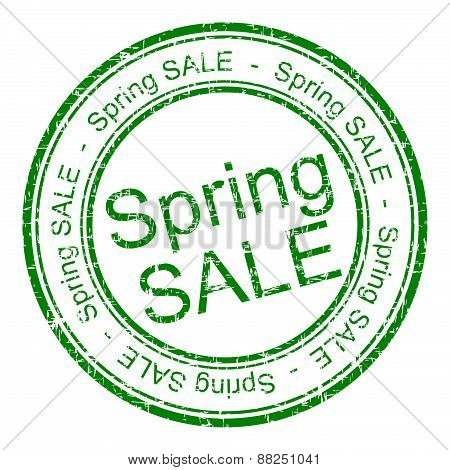 spring sale rubber stamp