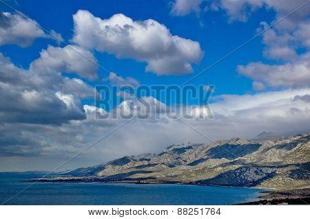 Velebit Mountain Seaside Panoramic View