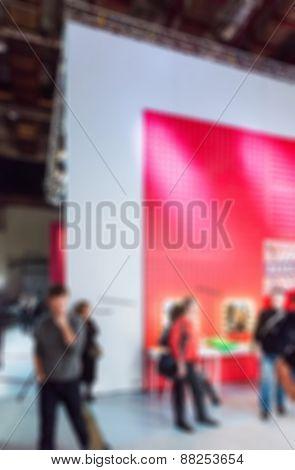 TV show filming backstage blur background