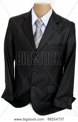 Mannequin with Male Formal Suit, Isolated on White Background