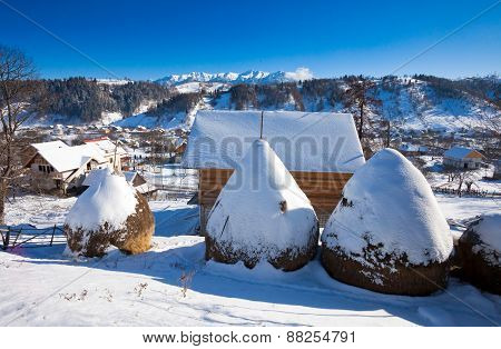 Typical Winter Scenic View From Bran Castle Surroundings