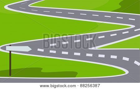 Road With Signpost