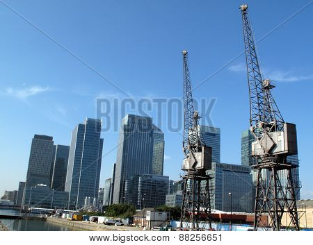 Canary Wharf in London's Docklands