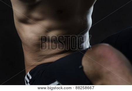 Close-up Photo Of The Abdominal Muscles