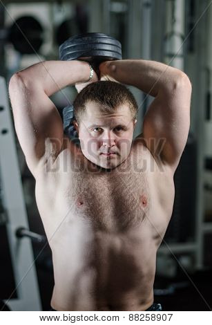 Young Man At The Gym