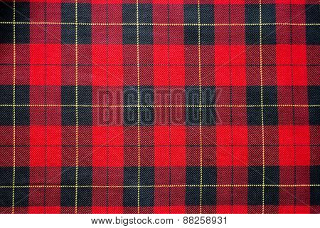 Classic Red And Black Checkered Tablecloth Textile