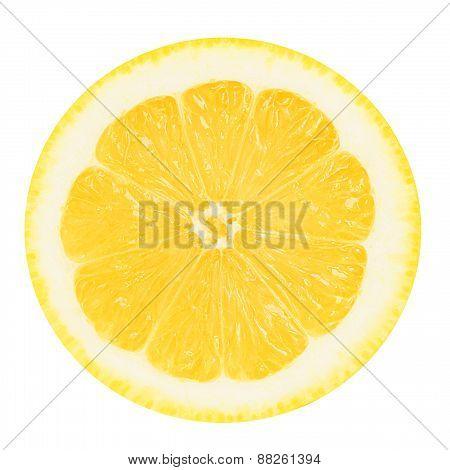 Juicy yellow lemon on a white background isolated