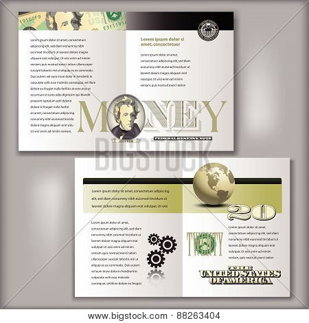 20 Dollar Bill Brochure Template