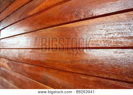 Wall Made Of Wood