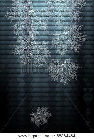 Maple Leaves On Triangle Background