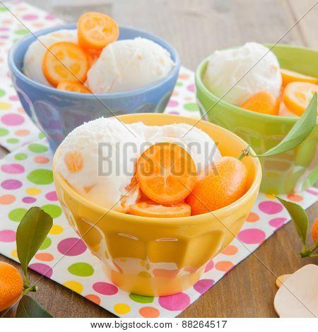 Ice Cream With Kumquats