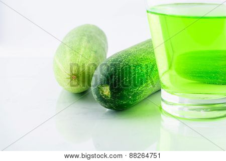 Juice Cucumber In Glass