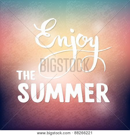 Summer calligraphic design element for poster or flyer