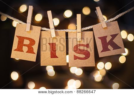 Risk Concept Clipped Cards And Lights