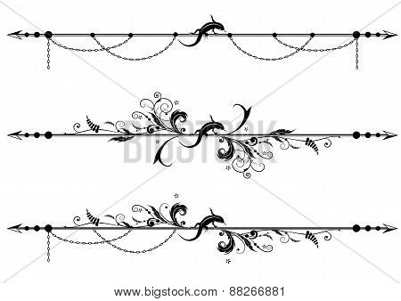 Lizard, Floral And Chain Background