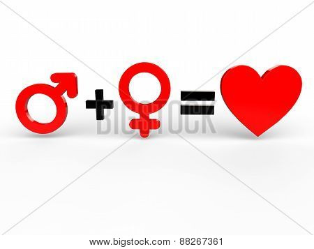 Man and woman equals love