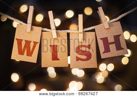 Wish Concept Clipped Cards And Lights Concept Clipped Cards And Lights