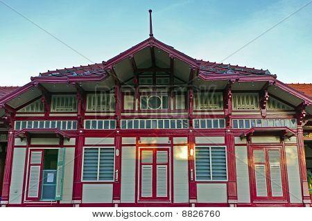 Railroad Huahin Station , Thailand ,