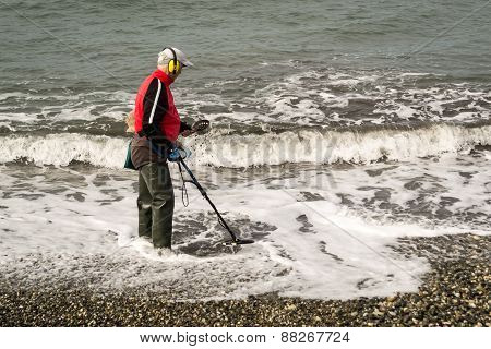 Metal Detecting Old Man
