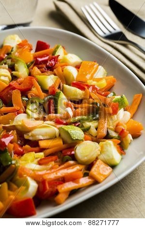 Mixed vegetables dish