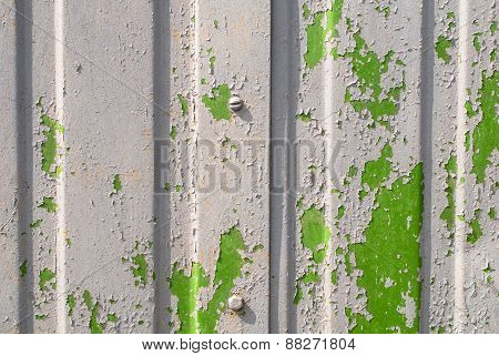 chipped paint on ?orrugated metal siding texture
