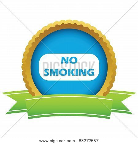 Gold no smoking logo