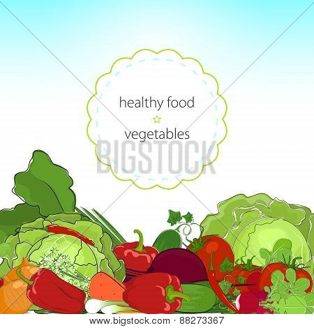 Healthy Food, Fresh Raw Vegetables