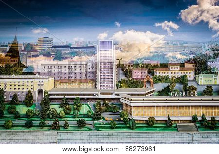 Miniature Model Of Saratov Russia